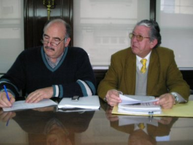 Omar Saucedo, Héctor Mazzei, Juan Vegue y Pablo Caballero