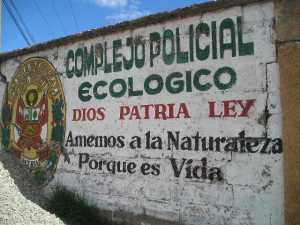 Otro lugar apropiado donde se enseña a respetar el ambiente, en Cuzco, Perú.