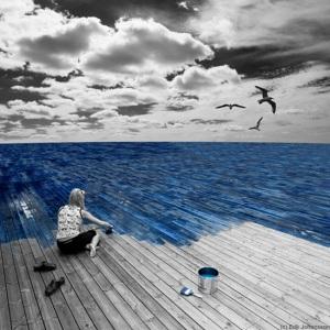 Otros pretendemos pintar la realidad, suplantando con cuadros las ventanas.