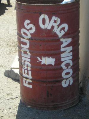 Clasificación propuesta separando los residuos orgánicos del resto.