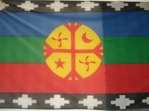 Bandera mapuche, llegada especialmente desde las profundidades de la Patagonia.