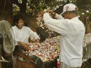 Materia prima para el reciclado.