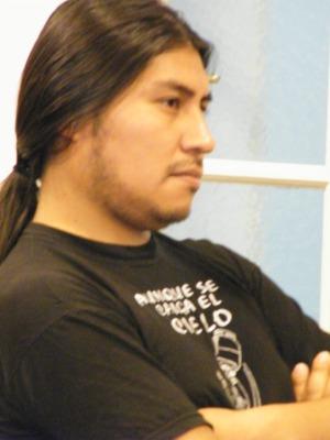 Jorge Ocsa, conferencista quien present´el Documental de Magdalena Cajías ACHACACHI, del que es coautor.
