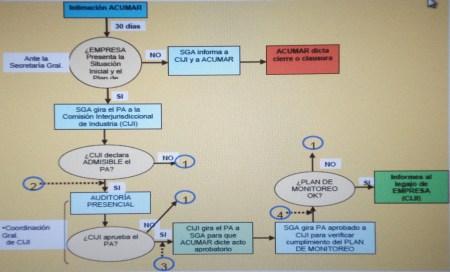Esquema del flujograma del proceso PRI.