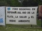 Foro Regional en Defensa del Río de la Plata, la Salud y el Ambiente.
