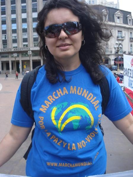 Integrantes de la Marcha Mundial por la Paz y la Vida 2009.