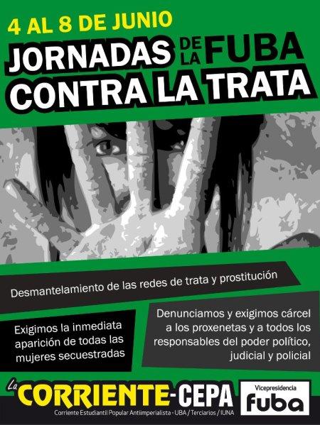 Jornadas 2012 de la FUBA contra la TRATA DE PERSONAS.
