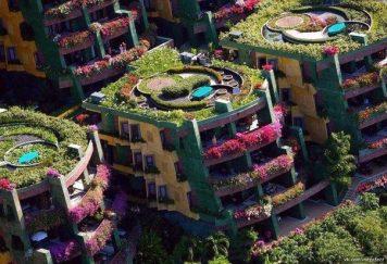 Sistema de embellecimiento de edificios naturaleza y ecotermia.
