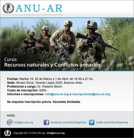 CURSO AMBIENTAL. Estratégico. De relevancia. Recursos Naturales y Conflictos Armados.