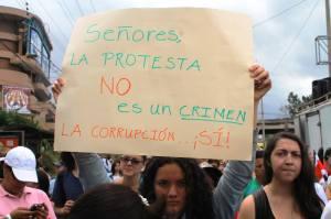 La protesta no es un crimen.