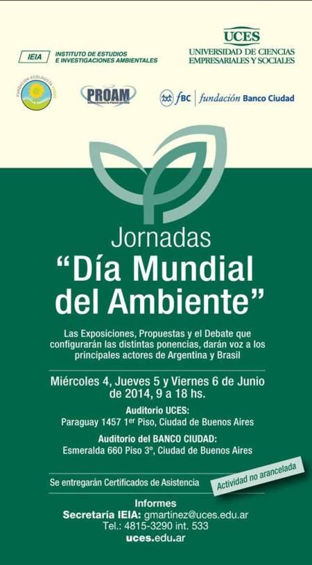 Jornada Ambiental en UCES 2014.