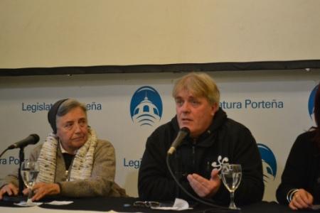 La monja Martha Pelloni y Gustavo Vera