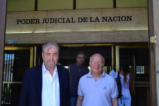 Bonasso y Ganora en los tribunales de retiro