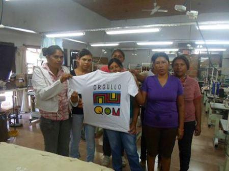 Remera Q'om en la primer textil en Formosa
