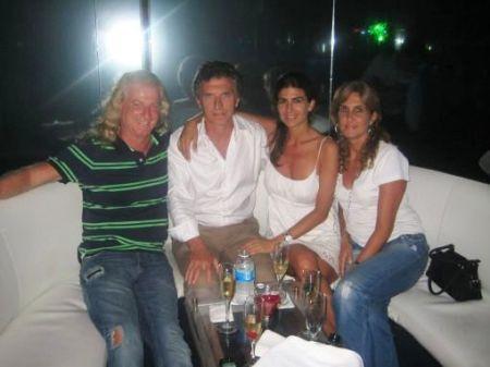 Gabriel Conde, Mauricio Macri y Juliana Awada en el prostíbulo de Cancún propiedad de Martins