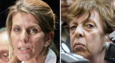 Arroyo Salgado (izq.) mujer de Nisman, Fein (der:) supuesta investigadora (dubitativa, ineficaz) del Caso Nisman.