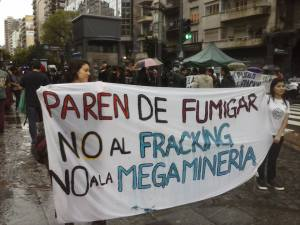 NO contaminar fracking megam Glifosato