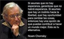 Hay esperanzas Noam Chomsky