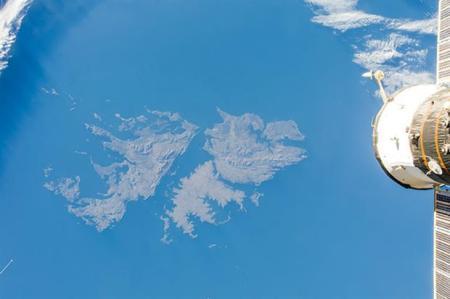 Islas Malvinas satelital