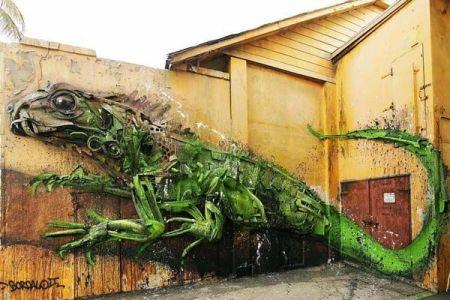 arte-con-basura-2-camaleon-verde