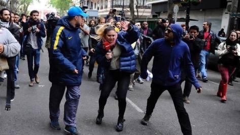 Santiago 2017 violencia en marcha